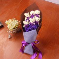 创意生日礼品永生花 情人节礼物玫瑰花礼盒11朵香皂花束