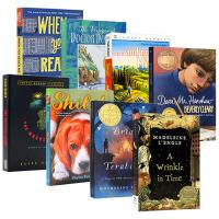 纽伯瑞金奖小说获奖书单8册 英文原版小说 Newbery 原版少儿读物 儿童青少年文学书籍 仙境之桥 当你到达我 时间
