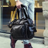 潮包男包包韩版手提包斜挎男士旅行包单肩包休闲包复古包斜挎包