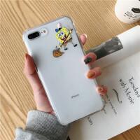 抖音网红新款卡通个性海绵宝宝苹果X手机壳iphone8plus搞怪创意软壳6Splus硅胶保护套7p