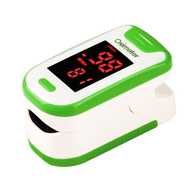 指夹式血氧仪家用手指脉氧夹心跳心率监测仪脉搏血氧饱和度检测器