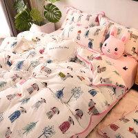 床上法莱绒四件套冬季珊瑚绒加厚法兰绒床单双面绒加绒卡通被套 2.0m床单款 适合被子220*240cm