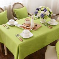 乐唯仕桌布纯棉欧式绿色桌布时尚田园风台布餐桌布茶几布可定做制
