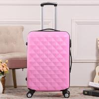 韩国钻石纹可爱女拉杆箱旅行箱PC镜面万向轮行李箱密码箱20寸24寸