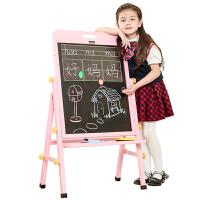 可升降白板画画写字板儿童实木画板画架双面磁性小黑板支架式家用