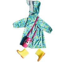 儿童雨衣男女童幼儿园小学生宝宝带书包位卡通雨衣雨鞋套装雨衣
