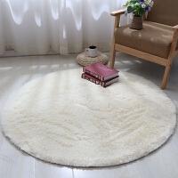吊篮服装店圆形地毯地毯小茶几电梯毛绒少女脚垫拍照白色儿童满铺