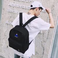 男生双肩包潮韩版校园中学生书包男时尚潮流电脑背包帆布休闲旅行
