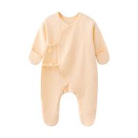 新生儿衣服秋冬装0-3-6月婴幼儿包脚连体衣宝宝护手连脚哈衣