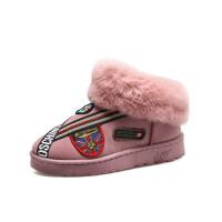 雪地靴女秋冬季学生韩版款士平底短靴子加绒外穿短筒靴保暖棉鞋女