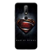 诺基亚X6手机壳TA-1099全包软防摔保护套Nokia X71个性卡通男女潮 X6 超人标志【送挂绳】