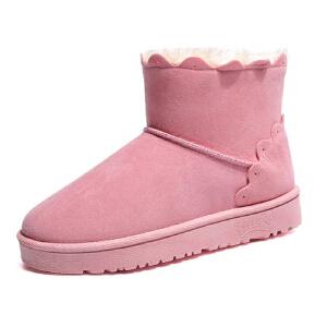 WARORWAR新品YM132-098冬季韩版磨砂绒平底舒适女士短靴雪地靴