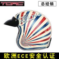美国复古机车头盔男摩托车个性酷夏季女安全半盔太子盔半覆式