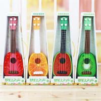 ?儿童玩具批发新款四弦仿真可弹奏水果吉他?