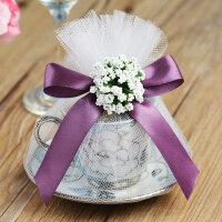【支持礼品卡】咖啡杯结婚喜糖盒子陶瓷婚礼回礼糖果盒 l9q