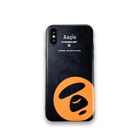 ape苹果8X手机壳iPhone7plus防摔软套xsmax潮牌个性创意XR情侣男6