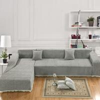 防滑加厚双人沙发垫布艺沙发巾组合全盖沙发罩套子定做四季坐垫 浅灰色 纯灰