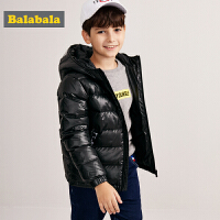 巴拉巴拉儿童羽绒服男童外套新款秋冬中大童保暖印花短款上衣