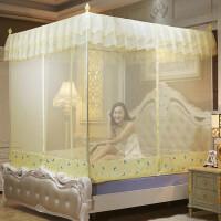 蚊帐三开门不锈钢坐床式拉链1.5m床蒙古包1.8m米床方顶单双人家用