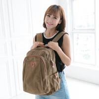 吉野2017新款女包包帆布包韩版女士双肩包学院风休闲复古背包男女学生书包旅行背包电脑包大包包6120