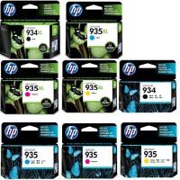 惠普原装 hp 934xl 935XL 彩色喷墨打印机一体机墨盒 934黑色 934XL大容量黑色 935蓝色 935