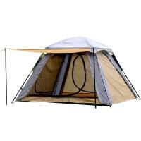 户外帐篷四开门3-4人自动帐篷 户外休闲凉棚