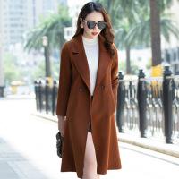 №【2019新款】冬天美女穿的新款羊毛呢外套中长款收腰修身显瘦韩版双面呢大衣女