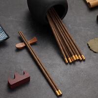 lanpiind郎品儿童鸡翅木筷子幼儿木质筷子鸡翅木筷21cm