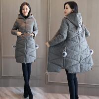 冬季女装加厚外套反季清仓棉衣女中长款韩版羽绒棉袄 M (85-100)斤