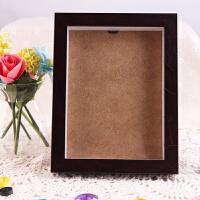图个乐木质摆台相框画框胶相框支架画框奖状证书 8寸红木色木质相框