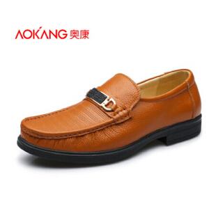 奥康男鞋 新款韩版潮流行男鞋子 男士日常休闲皮鞋舒适男鞋