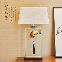 现代新中式办公桌室内摆件创意实用禅意客厅卧室台灯家居软装饰品 妙手识坠台灯