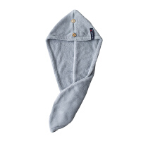 擦头巾加厚干发帽吸水干发巾浴帽包头巾儿童擦头毛帽 A款葫芦形 灰色