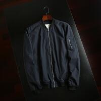 西班牙单 秋款男士时尚休闲空军飞行夹克针织棒球领户外休闲夹克