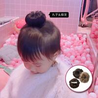 可爱丸子头发 宝宝假发质感逼真儿童发饰女童发夹2个装