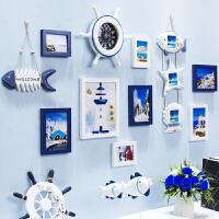 20190103080710914创意地中海照片墙客厅实木相框墙挂墙儿童卧室相片墙组合背景欧式