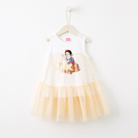 【1件3折到手价:56.7】moomoo童装迪士尼女童连衣裙夏季新款白雪公主针织无袖小公主裙