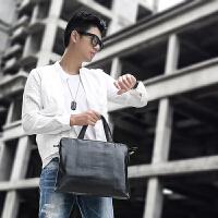 韩版商务手提包横款 男包时尚单肩包斜跨包电脑包潮