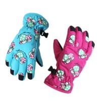 男女童款滑雪厚手套 户外保暖防寒手套 秋冬季儿童滑雪手套