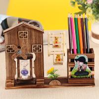 旋转风车音乐盒工艺品沙漏小熊摩天轮八音盒木屋房子笔筒摆件礼物 170MM*230MM