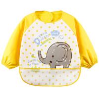 [两件包邮】卡伴儿童罩衣宝宝反穿衣防水防脏婴儿吃饭围兜长袖四季款