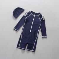 儿童泳衣男童防晒抗UV长袖宝宝运动连体游泳衣冲浪服套