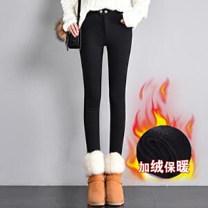 打底裤女外穿冬季新款女士加绒魔术裤女装加大加肥大码小脚裤