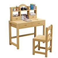 实木儿童学习桌书桌家用写字作业桌椅套装女孩子小学生课桌可升降
