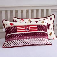 一对装法兰绒枕套加厚珊瑚绒枕头套女单人枕用学生忱套枕头罩 48cmX74cm