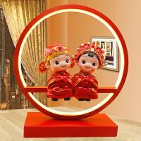 家居生活用品创意结婚礼物朋友闺蜜新婚礼品实用婚房装饰品摆件婚庆台灯 (圆圈)