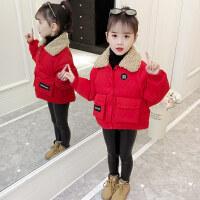 女宝宝冬装2018新款加厚洋气公主衣服短款小棉袄外套女童棉衣