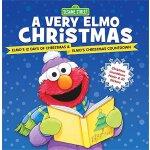 英文原版 芝麻街:阿莫的圣诞节 A Very Elmo Christmas 精装 含倒数海报和贴纸 Sesame St