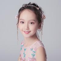 儿童发饰女童花朵蕾丝飘带女孩发箍宝宝发带花童花环头饰头花饰品
