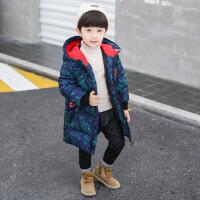 货比迪士尼巴拉巴拉等儿童秋冬装2018新款男童韩版中长款棉袄宝宝加厚冬季棉衣外套